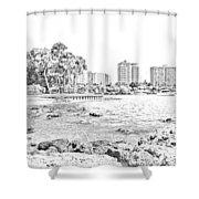 Sarasota Sketch Shower Curtain