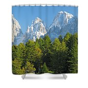 Sasso Lungo Group In The Dolomites Of Italy Shower Curtain