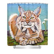 Sassy Lynx Shower Curtain