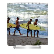 Satelite Beach Shower Curtain