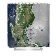 Satellite Image Of The Northern Shower Curtain