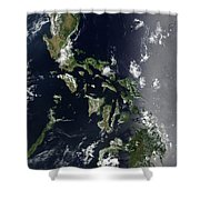 Satellite Image Of The Philippines Shower Curtain