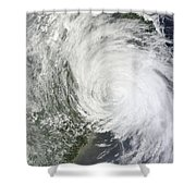 Satellite Image Of Tropical Storm Muifa Shower Curtain