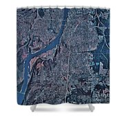 Satellite View Of Little Rock, Arkansas Shower Curtain