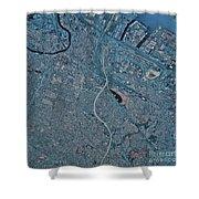 Satellite View Of Newark, New Jersey Shower Curtain