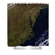 Satellite View Of The Mid-atlantic Shower Curtain