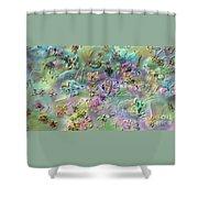 Satin Flowers Shower Curtain