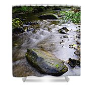 Satus Creek In Autumn Shower Curtain