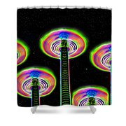 Saucer Attack Shower Curtain