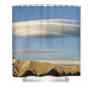 Saucer-shaped Cloud, Kootenay Plains Shower Curtain