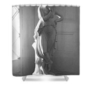 Saucy In Black And White Shower Curtain