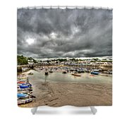Saundersfoot Harbour Shower Curtain