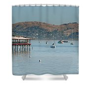 Sausalito Harbour Shower Curtain