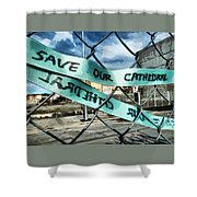 Save Our Cathedral  Shower Curtain