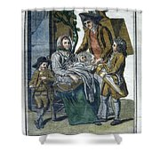 Savoyard Family, C1797 Shower Curtain