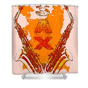 Sax Shower Curtain