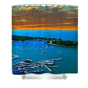 S.bass Is. Lake Erie Shower Curtain