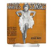 Scandals Songsheet, 1928 Shower Curtain