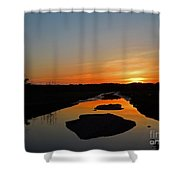 Scarborough Marsh Sunset 2 Shower Curtain