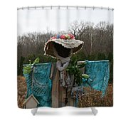 Scarecrow Garden Art Shower Curtain