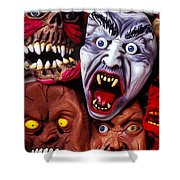 Scary Halloween Masks Shower Curtain
