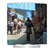 Scene At The Climbing Path Leading To The Vaishno Devi Shrine In Jammu And Kashmir State In India Shower Curtain