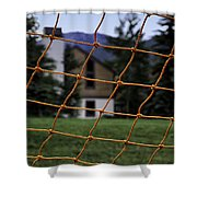 Scene Through A Volley Ball Court 2 Shower Curtain