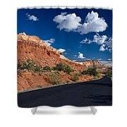 Scenic Drive Through Capitol Reef National Park Shower Curtain