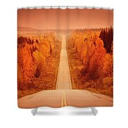 Scenic Highway Shower Curtain