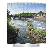 Scenic Landscape With Old Dee Bridge Shower Curtain