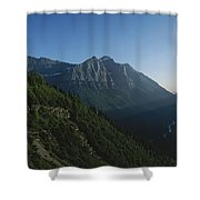 Scenic Overlook In Glacier National Shower Curtain