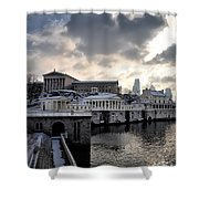 Scenic Philadelphia Winter Shower Curtain