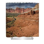 Scenic Road 1 Shower Curtain