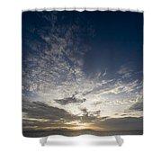 Scenic Sunset Over Malapascua Island Shower Curtain