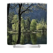 Scenic View Of The Merced River Shower Curtain