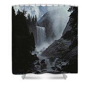 Scenic View Of Vernal Fall Shower Curtain