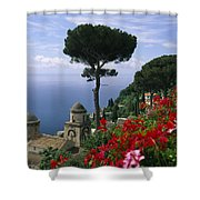 Scenic View Of Villa Rufolo Terrace Shower Curtain