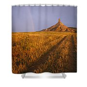 Scenic View Of Western Nebraska Shower Curtain