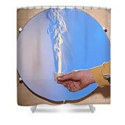 Schlieren Image Of A Candle Shower Curtain