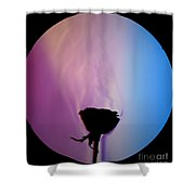 Schlieren Image Of A Roses Aroma Shower Curtain