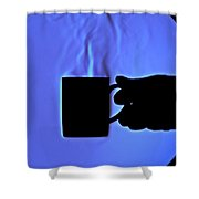 Schlieren Image Of Hot Coffee Cup Shower Curtain