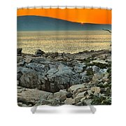 Schoodic Sunset Shower Curtain