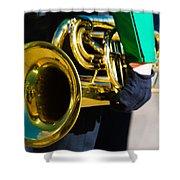 School Band Horn Shower Curtain