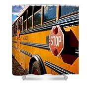 School Bus Shower Curtain