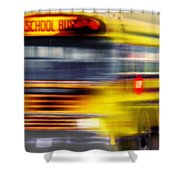 School Bus Rush Shower Curtain