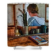 Schoolmarm's Desk Shower Curtain
