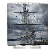 Schooner In Halifax Harbor Shower Curtain