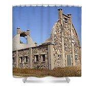 Schott Stone Barn Shower Curtain