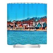 Schuylkill Navy Boat House Row Shower Curtain