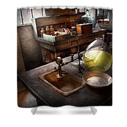 Science - Chemist - Scientific Discoveries  Shower Curtain by Mike Savad